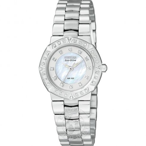 Citizen Serano White Dial Stainless Steel Bracelet Ladies Watch EP5830-56D