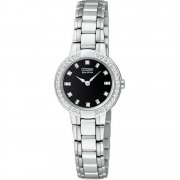 Citizen Silhouette Diamond Black Dial Stainless Steel Bracelet Ladies Watch EW9720-59E