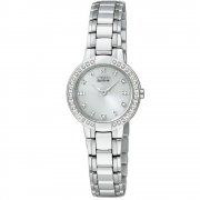 Citizen Silhouette Diamond Silver Dial Stainless Steel Bracelet Ladies Watch EW9720-59A