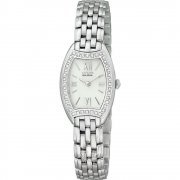 Citizen Silhouette Diamond White Dial Stainless Steel Bracelet Ladies Watch EW9730-55A
