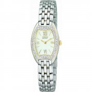 Citizen Silhouette Diamond White Dial Stainless Steel Bracelet Ladies Watch EW9734-54A