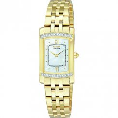 Citizen Silhouette white dial stainless steel bracelet Ladies watch EG3122-57D