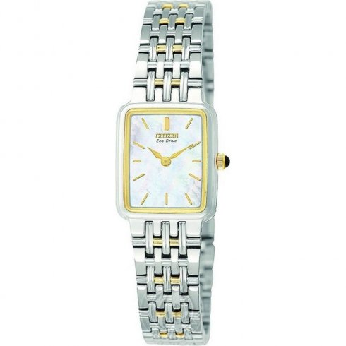 Citizen Silhouette white dial stainless steel bracelet Ladies watch EW9474-53D