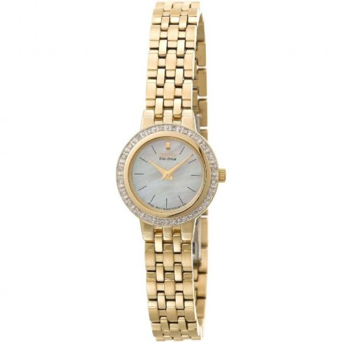 Citizen Silhouette white dial stainless steel bracelet Ladies watch EW9572-54D
