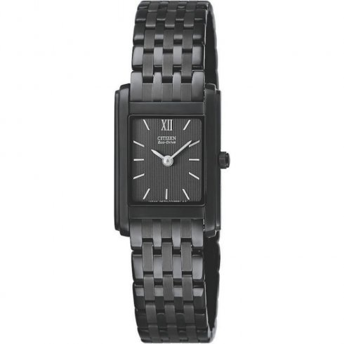 Citizen Stiletto black dial stainless steel bracelet Ladies watch EG3015-57E