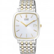 Citizen  white dial stainless steel bracelet Mens watch AU1014-59A