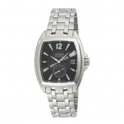 Citizen World Perpetual black dial stainless steel bracelet Mens watch BV1030-59E