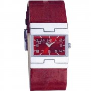 D&G Prime Time Burgundy Dial Leather Strap Ladies Watch 719251493