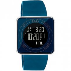 D&G High Contact Digital Chronograph Blue Rubber Strap Gents Watch DW0736