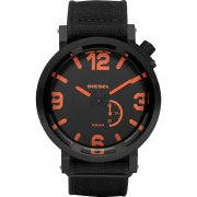 Diesel Black Dial Black Fabric Strap Mens Watch DZ1471