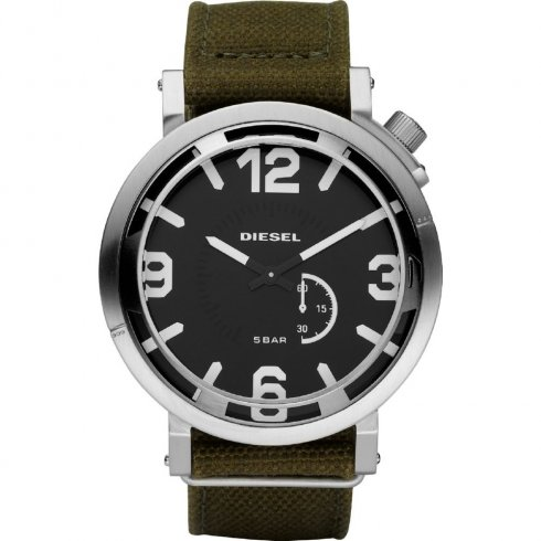 Diesel black dial fabric strap Mens watch DZ1470