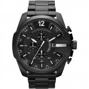 Diesel Chief black dial chronograph stainless steel bracelet Mens watch DZ4283