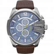 Diesel Chief blue dial chronograph leather strap Mens watch DZ4281