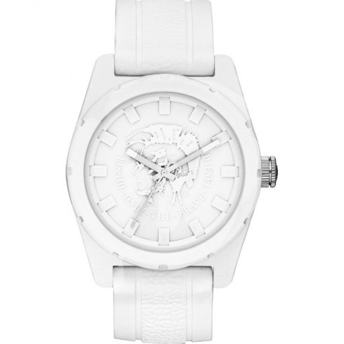 Diesel Company white dial resin strap Mens watch DZ1590