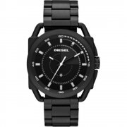 Diesel Descender black dial stainless steel bracelet Mens watch DZ1580