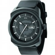 Diesel F-Stop Black Dial Rubber Strap Mens Watch DZ1262
