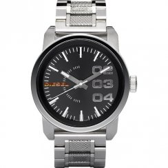 Diesel Franchise black dial stainless steel bracelet Mens watch DZ1370