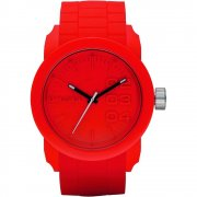 Diesel Franchise red dial rubber strap Mens watch DZ1440
