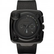 Diesel Studio Mixer black dial chronograph leather strap Mens watch DZ4218