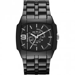 Diesel Trojan black dial polycarbonate bracelet Mens watch DZ1549
