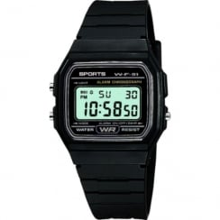 F11 Sports Digital Chronograph Black Resin Strap Watch F11-1AEF