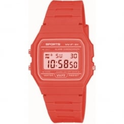 F11 Sports Digital Chronograph Coral Resin Strap Watch F11-5AEF