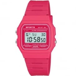 F11 Sports Digital Chronograph Pink Resin Strap Watch F11-7AEF