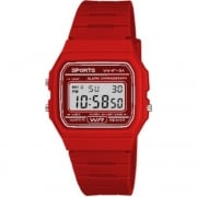 F11 Sports Digital Chronograph Red Resin Strap Watch F11-6AEF