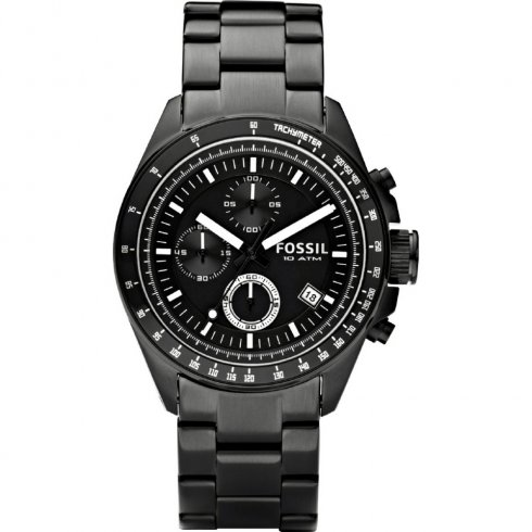 Fossil Decker Chronograph Black Dial Stainless Steel Bracelet Gents Watch CH2601