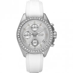 Fossil Decker silver dial chronograph resin strap Ladies watch ES2883