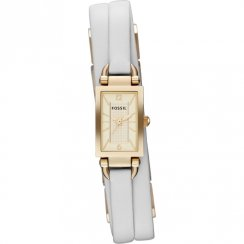 Fossil Delaney champagne dial leather strap Ladies watch JR1441