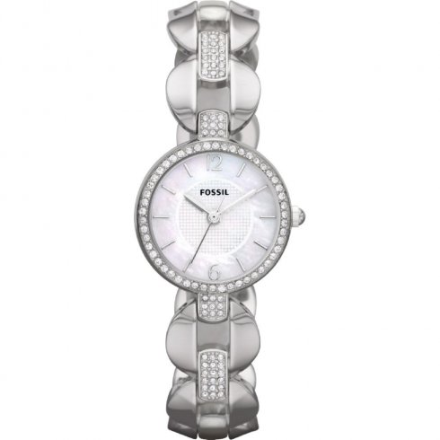 Fossil Delicate mother of pearl dial stainless steel bracelet Ladies watch ES3013