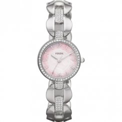 Fossil Delicate pink dial stainless steel bracelet Ladies watch ES3012
