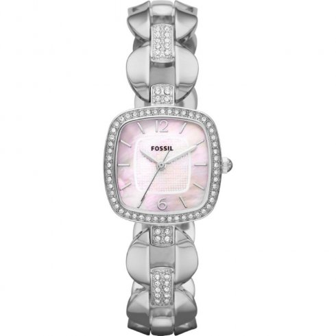 Fossil Delicate pink dial stainless steel bracelet Ladies watch ES3016