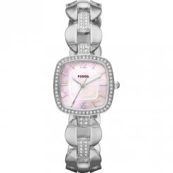 Fossil Delicate pink dial stainless steel bracelet Ladies watch ES3106