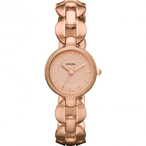 Fossil Delicate rose gold dial stainless steel bracelet Ladies watch ES3011