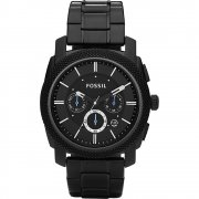 Fossil Machine Chronograph Black Dial Stainless Steel Bracelet Gents Watch FS4552