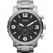 Fossil Nate Chronograph Black Dial Stainless Steel Bracelet Gents watch JR1353