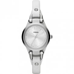 Fossil Georgia silver dial leather strap Ladies watch ES3267