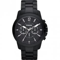 Fossil Grant black dial chronograph stainless steel bracelet Mens watch FS4723