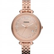 Fossil Heather rose gold dial stainless steel bracelet Ladies watch ES3130
