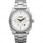 Fossil Machine silver dial chronograph stainless steel bracelet Mens watch FS4663