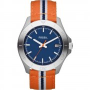 Fossil Retro Traveller blue dial nylon strap Mens watch AM4478
