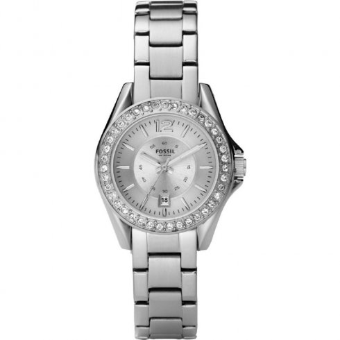 Fossil Riley Silver dial stainless steel bracelet Ladies watch ES2879