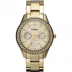 Fossil Stella champagne dial stainless steel bracelet Ladies watch ES3101