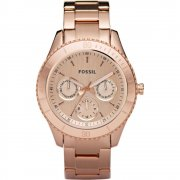 Fossil Stella Rose Gold dial stainless steel bracelet Ladies watch ES2859