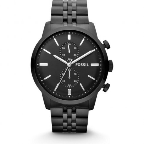 Fossil Townsman black dial chronograph stainless steel bracelet Mens watch FS4787