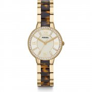 Fossil Virginia champagne dial stainless steel bracelet Ladies watch ES3314