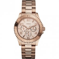 Guess Bff Multifunction rose gold dial stainless steel bracelet Ladies watch W0231L4