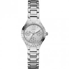 Guess Breeze silver dial stainless steel bracelet Ladies watch W0355L1